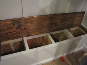Diy Shoe Storage Bench In The Mudroom Organize And Inspire