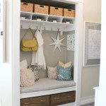 Entryway ClosetMudroom makeover - thehouseofsmiths.com