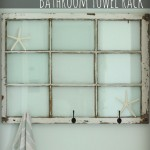 free roadside window to bathroom towel rack