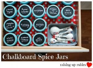 chalkboard spice jars ♥ raising up rubies