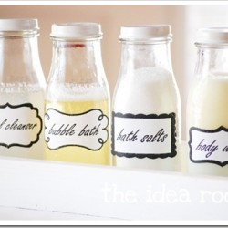 labeled bath jars